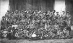 Orchestra of the 2nd Regiment, c. 1930, a chaplain Col. Firek sits in the middle