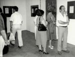Vernissage of the exhibition of Otto Axer's drawing and painting, 1994