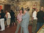Honorata Madeyska-Jonquière talks with a director Wiesław Banach during the vernissage of Arika Madeyska exhibition, 2007