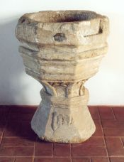 Baptismal font, 15th c., Sanok, Church of the Archangel Michael