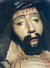 Head of Christ (detail of the cross) c. 1530, Mrzygłód