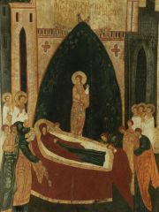 The Dormition of Our Lady, 15th c., Ĺ»ukotyn