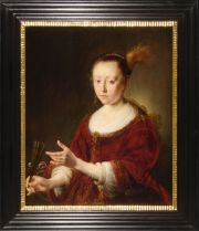 Gijsbert Sibilla, Portrait of Lady with a fan, 1650